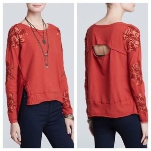 •Free People• Outer Sunset Grandpa Jersey Red Rust